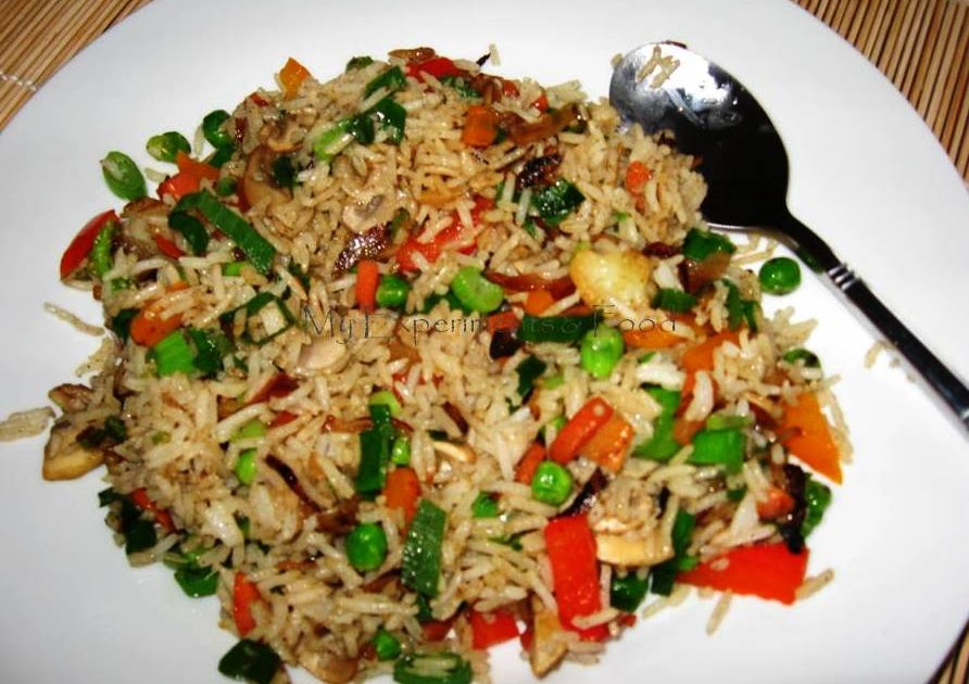 My Experiments & Food: Quick Fried Rice - with Vegetables