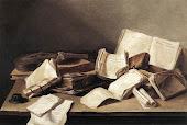 Natureza morta de livros, (Jan Davidsz de Heem,1628)