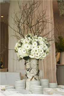 birch wedding centerpiece