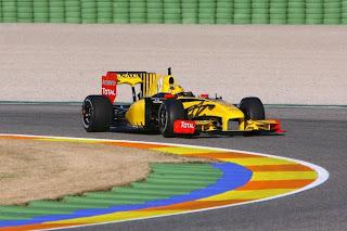 Robert Kubica testa Renault em Valência