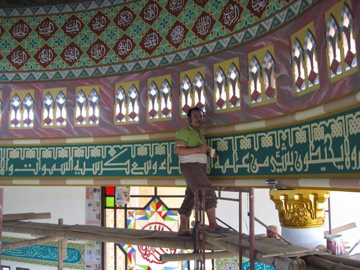 memper indah masjid
