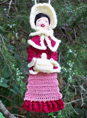 Woman Victorian Caroler Bookmark/Ornament PDF Pattern