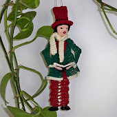 Male Victorian Caroler Ornament or Bookmark