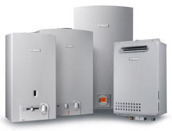 Bosch Therm lineup of Gas tankless water heaters