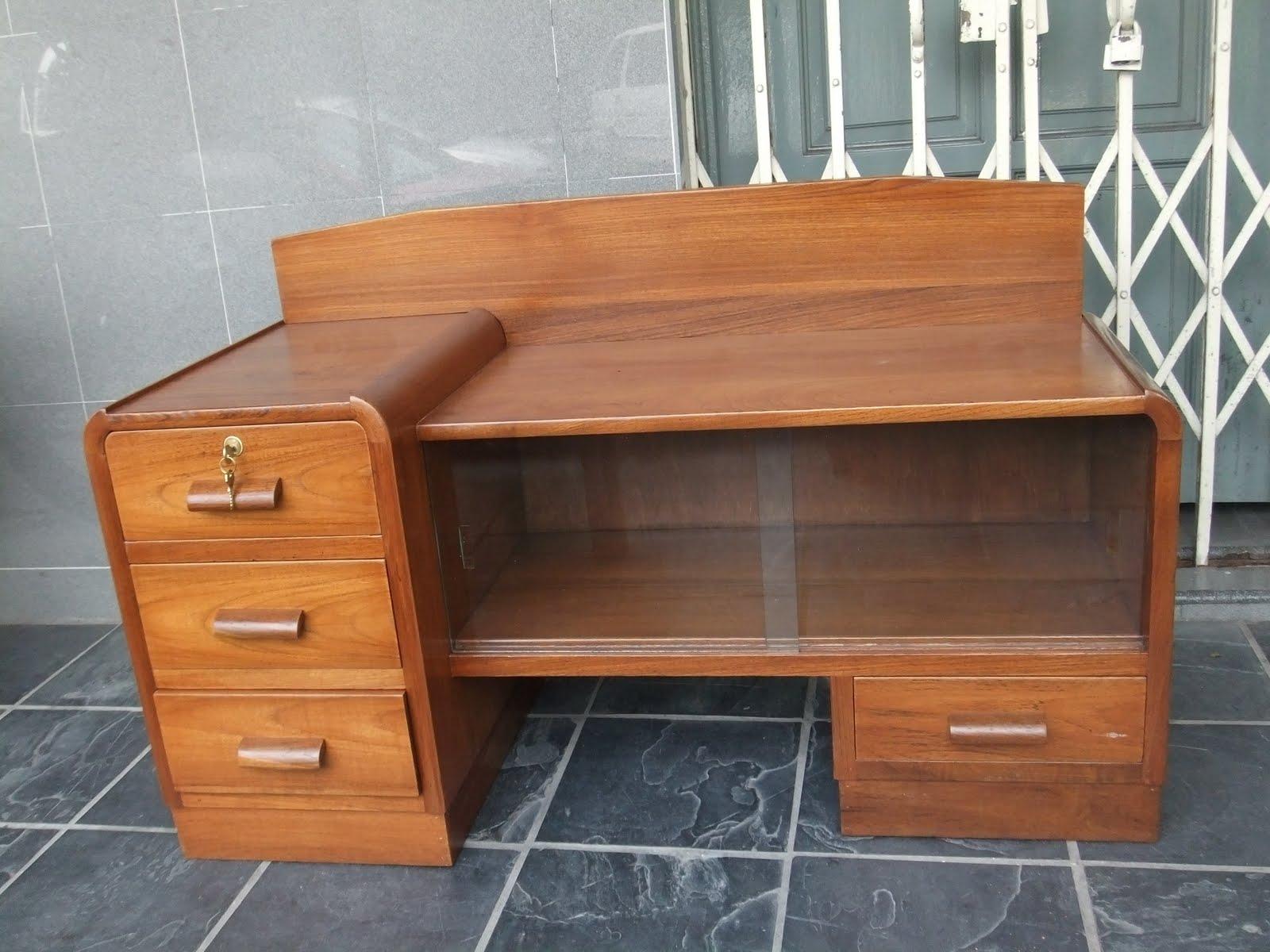 A 1950u0027s Art Deco Dresser. Mirror Available. Makes A Good TV Cabinet.