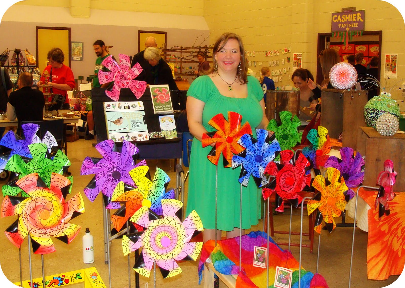 Eye Pop Art Pinwheels at the Garden Fair in the UncommonGoods