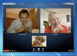 Skype videochat em grupo