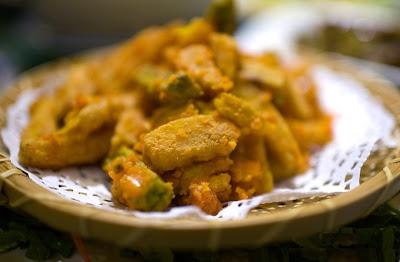 Cocina china calabaza frita con yemas saladas de pato for Calabaza frita