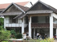 French And Lao Colonial Buildings In Vientiane
