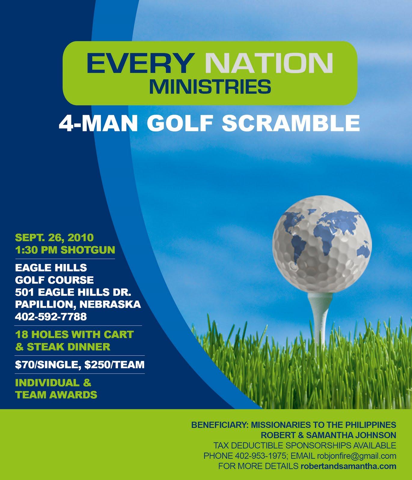 Golf Scramble Flyer Template Solidgraphikworksco - Golf tournament brochure template