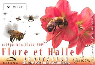 Billet d'accès à Flore et Halle 2009