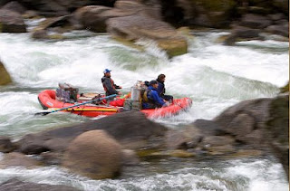 Idaho river rafting trip