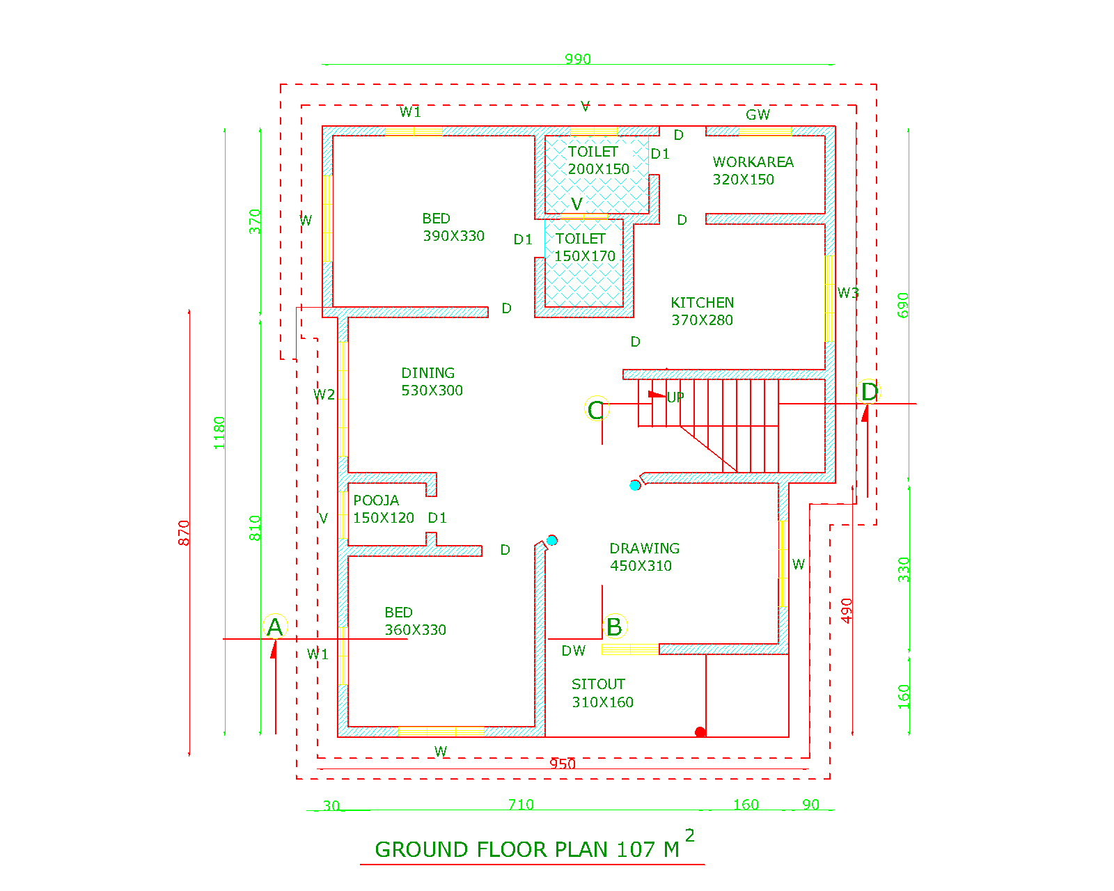 Indian modern house autocad plans joy studio design for House plan india