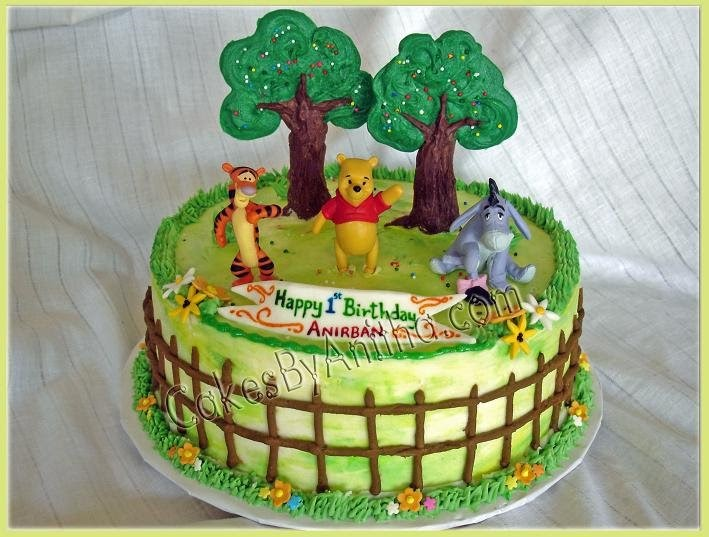 Cakes by Anitha: Pooh bear cakes