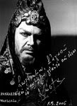 Kostas Paskalis as Nabucco, signed photo.