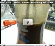 HHO nuevo reactor con electrodos magnéticos