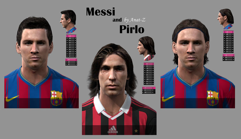 Messi & Pirlo Faces Preview