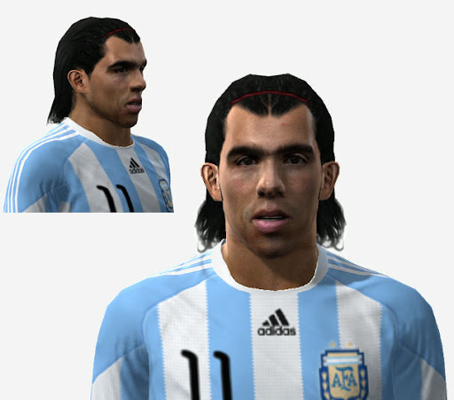 Pes 2010 - Tevez Face Preview