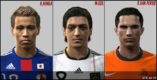 Pes 2010 - Honda, Özil, van Persie Face Preview