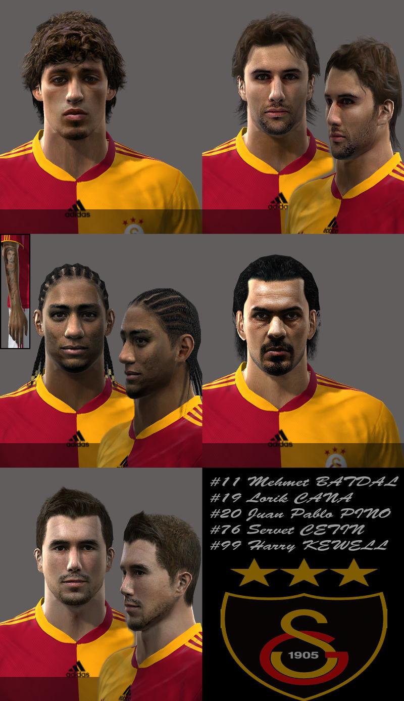 Pes 2010 - Galatasaray Face Pack (Cana, Kewell, Mehmet Batdal, Pino, Servet Cetin) Preview