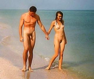 Familia de playas nudistas
