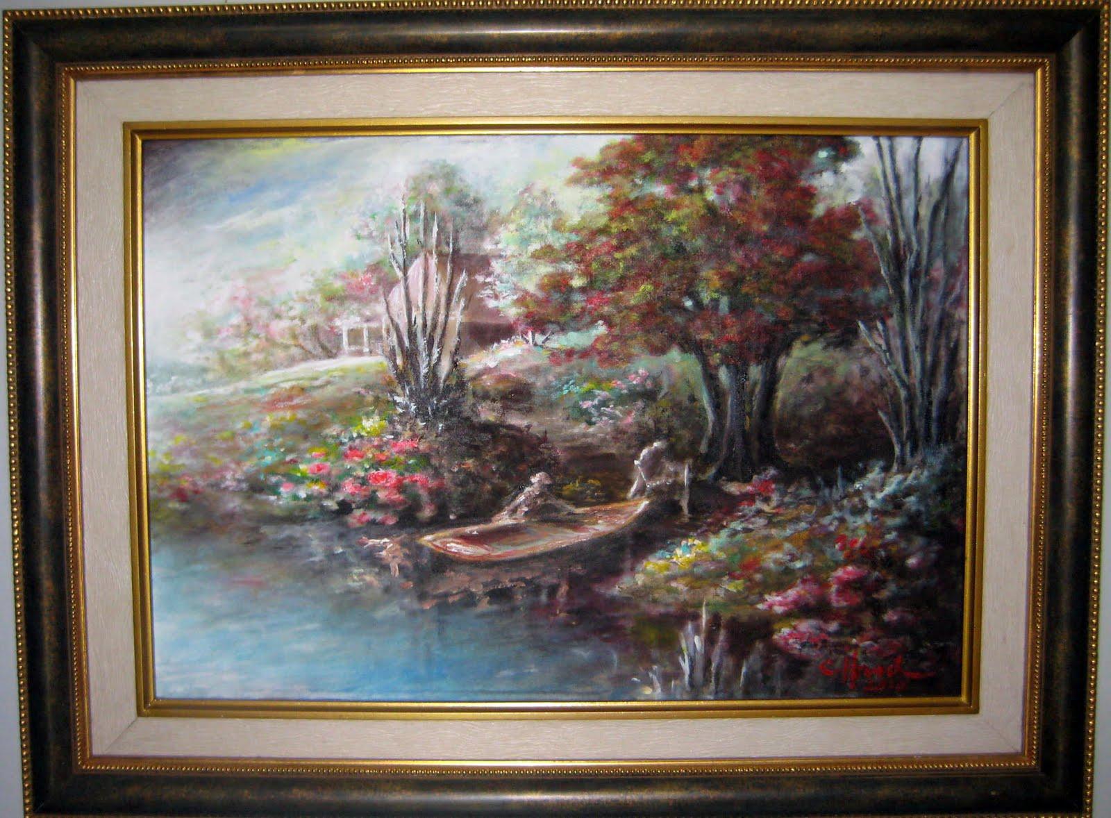 Lukisan Pemandangan Danau