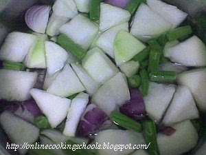 Chopped Vegetables for Sambhar