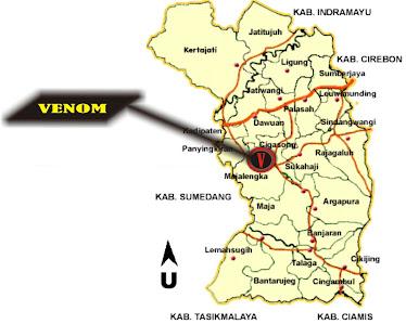 Peta Lokasi Kabupaten Majalengka