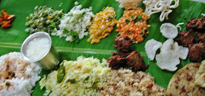 Kannada cuisine ugadi it lingers in my memories we spread it on the floor squatted in front of it and were waiting for mom to arrive with all the side dishes this was what my plate leaf looked like forumfinder Choice Image