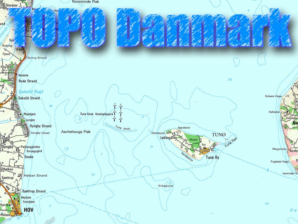 topografisk kort danmark