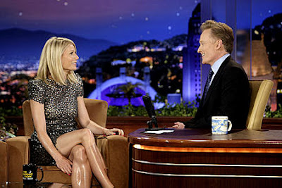 legs so shiny on the tonight show gwyneth paltrow has amazing legs but