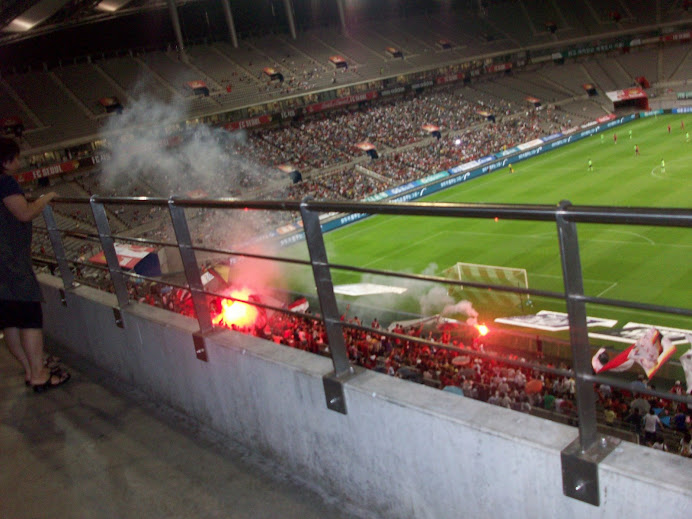 Sparklers of the FC Seoul fans