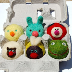 Six tiny Easter Basket Spring Baby Animals in egg carton