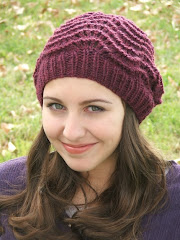 Beautiful Burgandy Wine - Slouch Beret - Hand knit