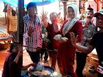 IKANG dan Icha sedang Kampanye di  Pasar Kalianda Lamsel