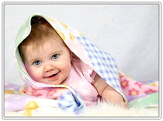 baby girl with beautiful smile