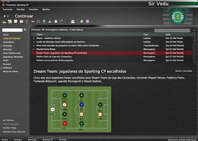 Football Manager 2008 - Algumas images de save com a táctica 4411 Vodu