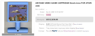 Air Raid Atari 2600 Auction