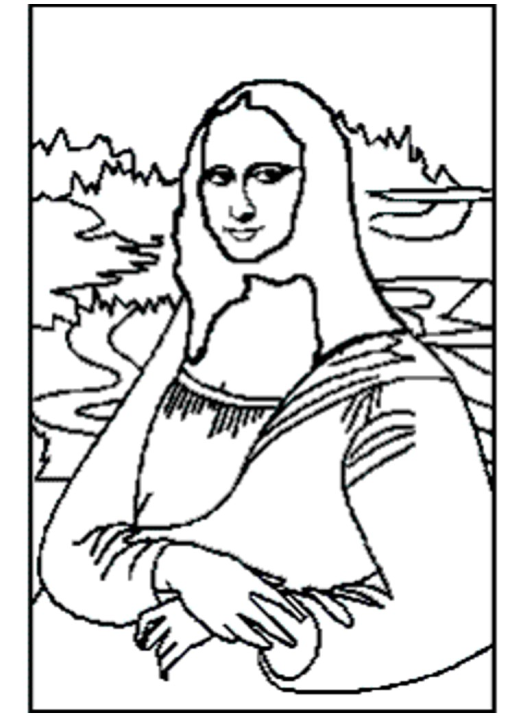 mona lisa coloring pages - photo#15