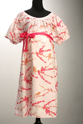 Cherry Blossom-cute, chic, stylish hospital gown, labor & delivery