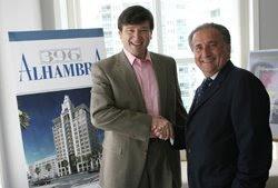 Foto del Nuevo Herald sobre la empresa Agave Florida Investments LLC con su nuevo projecto de un edificio inteligente en el corazon de Coral Gables