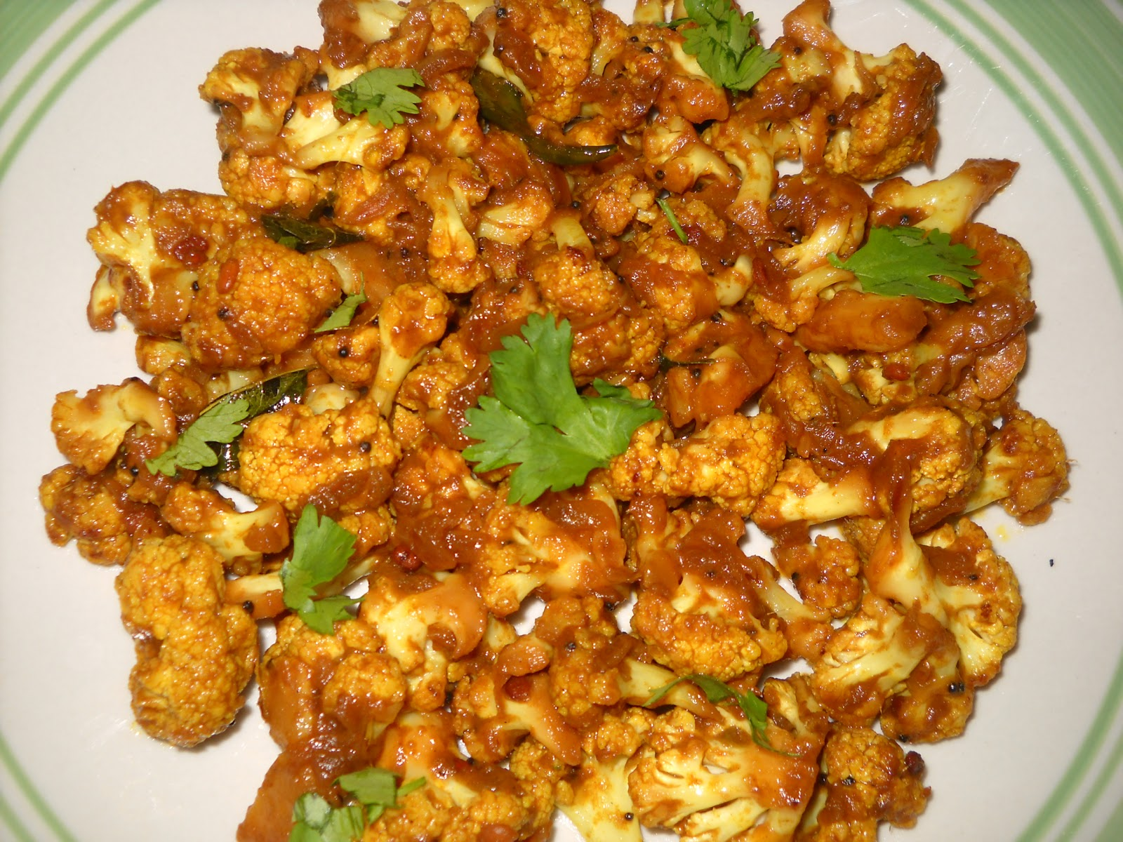 Savitha's Kitchen: Cauliflower Stir Fry