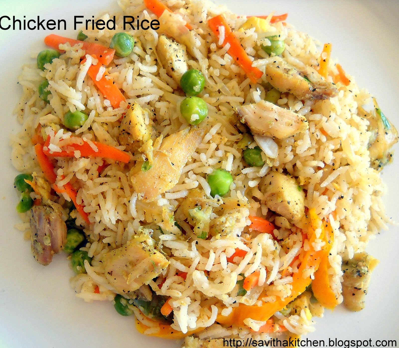 Savitha's Kitchen: Chicken Fried Rice