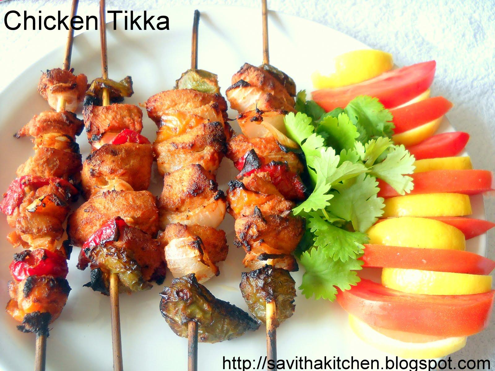 Savitha's Kitchen: Chicken Tikka