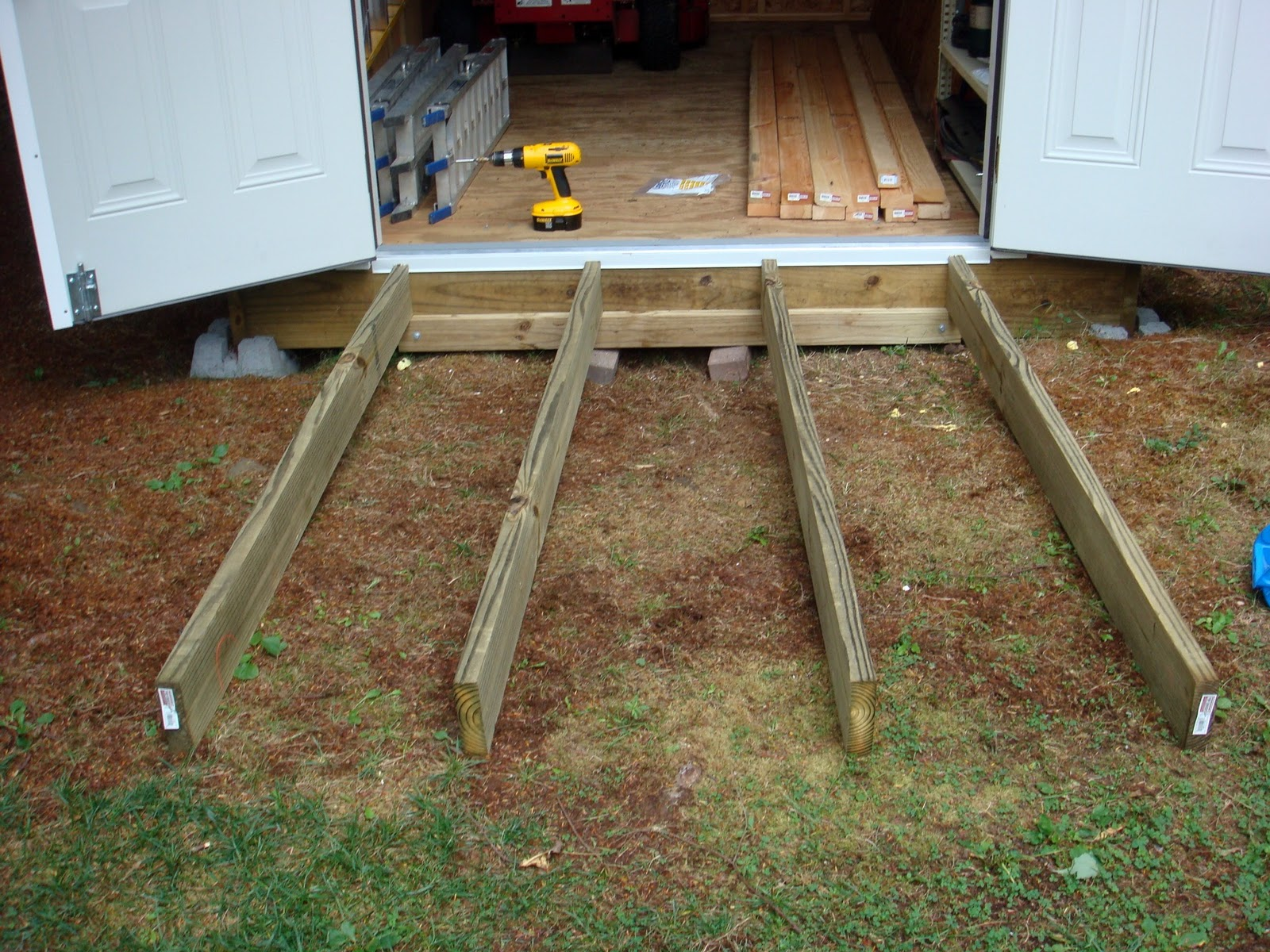 How to Build a Garden Shed Ramp