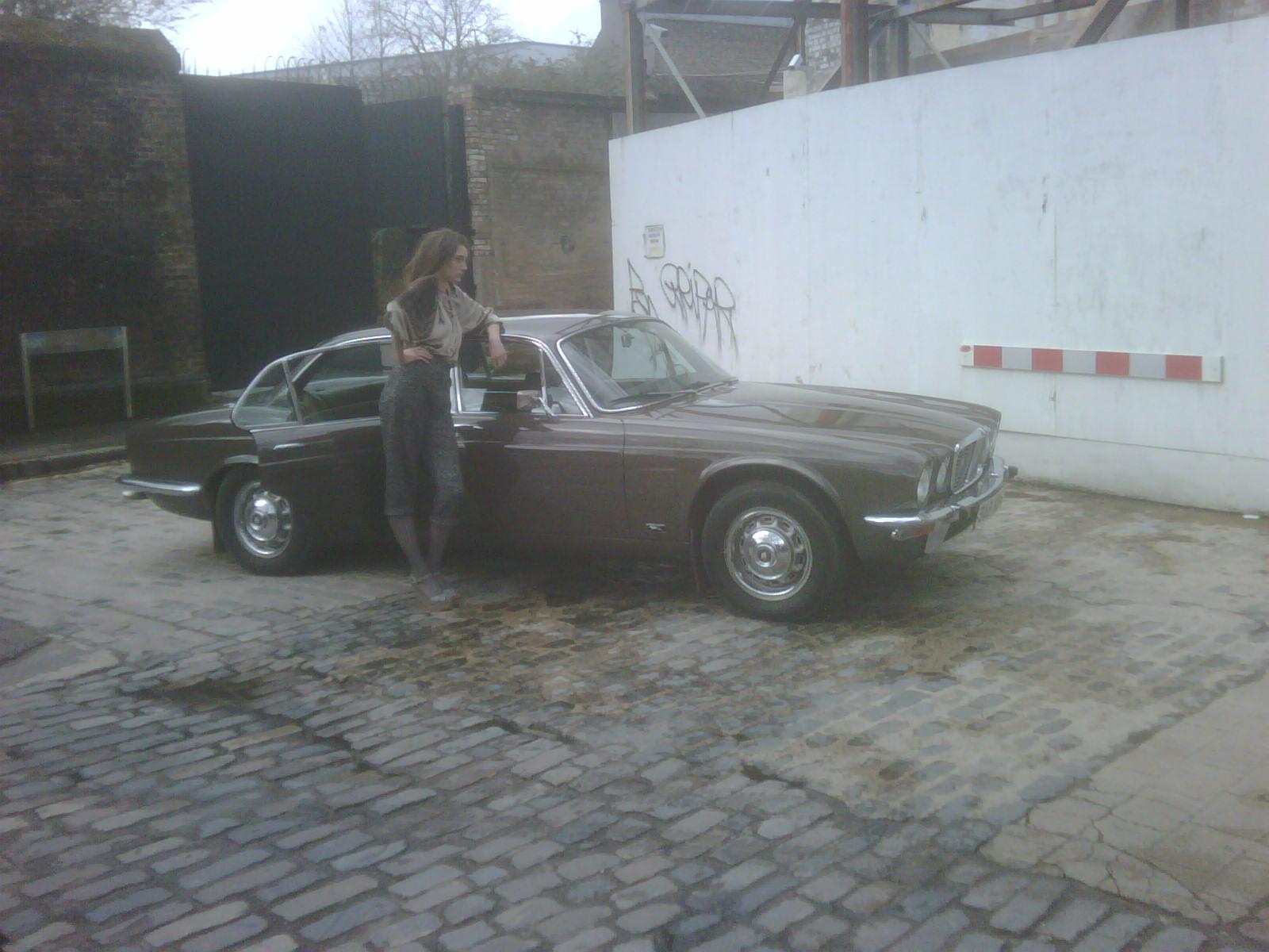 A 1974 Jaguar XJ6 saloon from