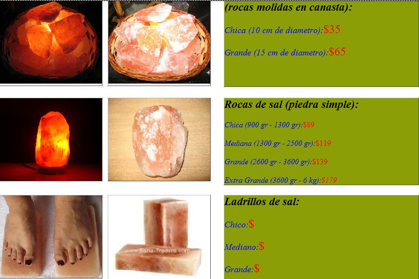 Amaranta - Lamparas de sal precios ...