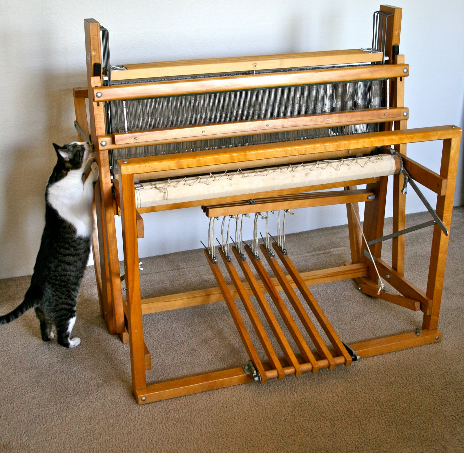 Aunt Nancys Handmade Soap Nilus Leclerc 36 4 Harness Floor Loom Homeade Tow For Sale