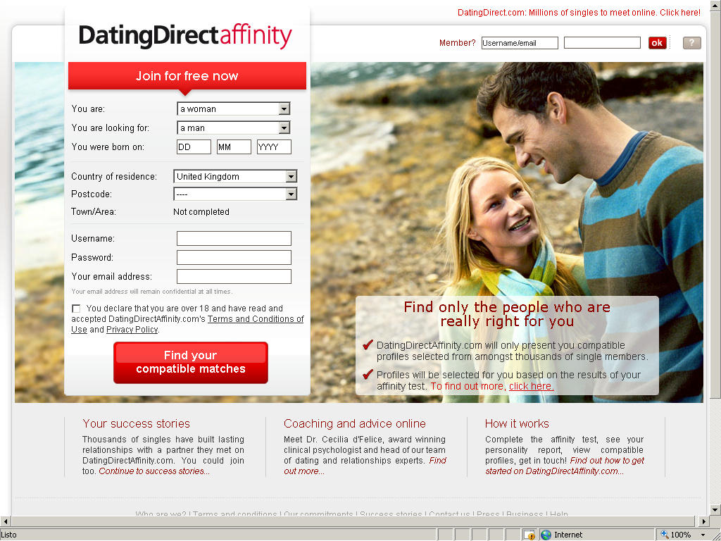 test online dating