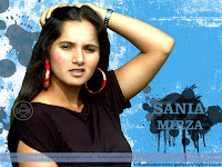 Sania Mirza Black Dress